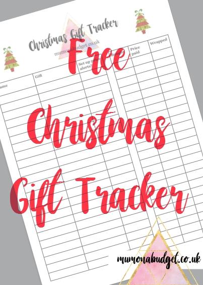 free christmas gift list tracker printable